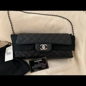 Chanel Classic Flap 94305 Nsz Black Lamb Bag